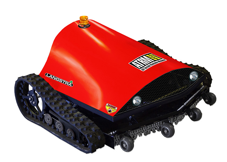 All terrain radio controlled slope mower