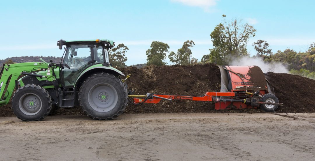 Large scale composting