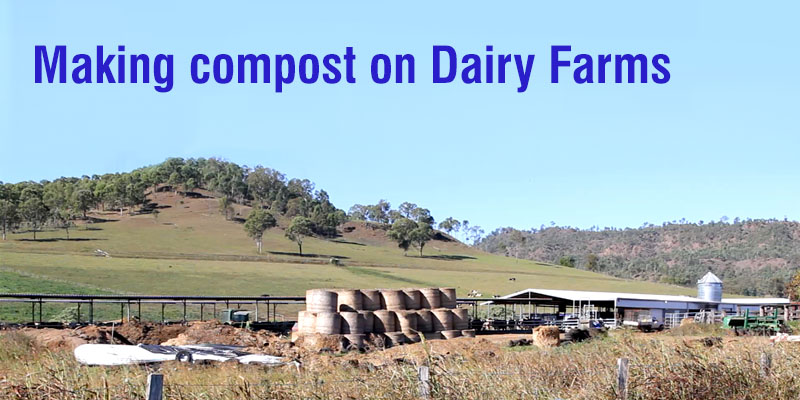 For more information visit dairyaustralia.com.au Making compost on dairy farms
